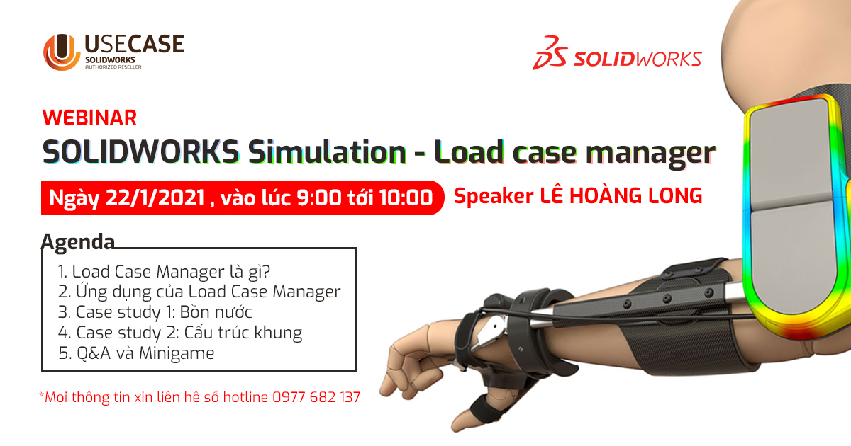 Webinar: SOLIDWORKS Simulation - Load case manager